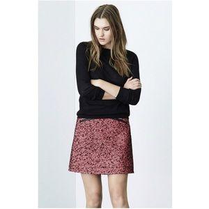 Warehouse Double Zip Tweed Skirt
